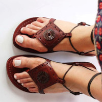 gladiator Jesus sandals ,leather sandal for women .
