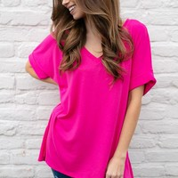 Feeling Bright Casual Dolman Sleeve Top
