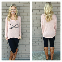 Pink Love you to Infinity Knit Top