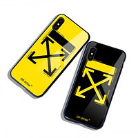 Off White New fashion letter cross arrow print protective cover phone case