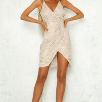 Rags To Riches Dress Champagne