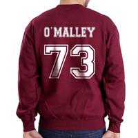 O`Malley 73 White Ink on Back Greys Anatomy Unisex Crewneck Sweatshirt