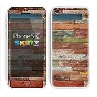 The Raw Vintage Wood Panels Skin for the Apple iPhone 5c