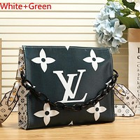 Louis Vuitton LV Women Fashion Two-Sided Print Leather Tote Crossbody Shoulder Bag Satchel