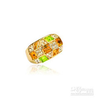 Color Diamonds The colorful queen Ring of the influx of people women forefinger