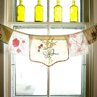 Kitchen Curtain one of a kind window by TheLittleRagamuffin