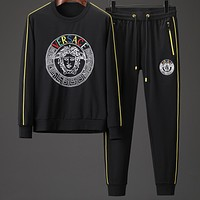 Boys & Men Versace Casual Long Sleeve Shirt Pants Trousers Set Two-Piece
