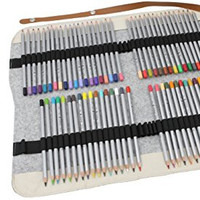 Colored Pencils Set with Pouch Case, 72 Colors Art Colored Pencils with Felt Fold Up / Roll Up Pencils Case for Artist Sketch, Adults / Kids Drawing,Secret Garden and Other Adult Coloring Books