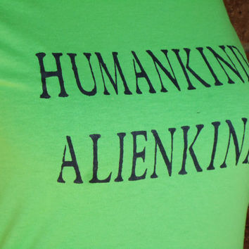 Tshirt Science Humankind Alienkind UFO Paranormal 111