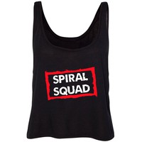 "Jersey Shore MTV ""Spiral Squad"" Cropped Tank Top"