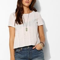 Pins And Needles Eyelet Tulip-Back Top - Urban Outfitters