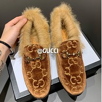 GUCCI New type of horse's title button slippers