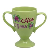 Hot Mess Trophy Mug in Floral Design