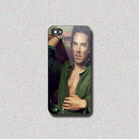 Benedict Cumberbatch Sherlock - Print on Hard Cover for iPhone 4/4s, iPhone 5/5s, iPhone 5c - Choose the option in right side