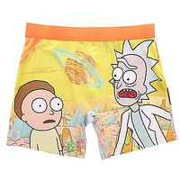 Outerspace Alien Rick & Morty Boxer Briefs - Spencer's