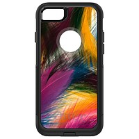 DistinctInk™ OtterBox Commuter Series Case for Apple iPhone or Samsung Galaxy - Multi Color Feathers