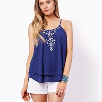 Lara Embroidered Tank | Fashion Apparel and Clothing - Tops | charming charlie