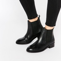 ASOS ATTRIBUTE Leather Chelsea Ankle Boots at asos.com