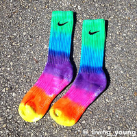 Tie Dye Nike Socks Rainbow Colors