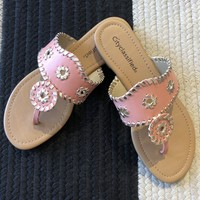 SALE! Nantucket Sandals in Salmon