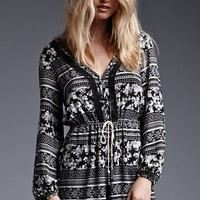 House of Harlow Long Sleeve Button Front Romper - Womens Dress - Black