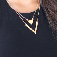 Pointing Out the Facts Necklace - Gold