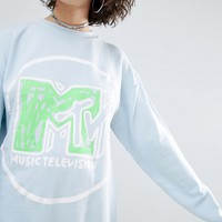 ASOS x MTV Sweatshirt With Logo Print at asos.com