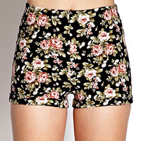 High-Waisted Floral Shorts   FOREVER21 - 2000127151