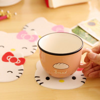 1 Pcs Cute Kawaii Cartoon Silicone Drink Coffee Cup Bar Coasters Placemat Kitchen Desk Accessories Decorative For Home Supplies