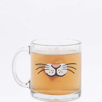 Glass Cat Face Mug - Urban Outfitters