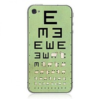 Visual Acuity Chart iPhone Cases from Hallomall