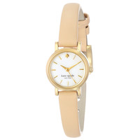 Kate Spade 1YRU0372 Women's Tiny Metro MOP Dial Beige Leather Strap Watch