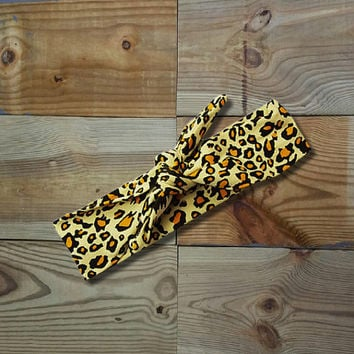 Cheetah Knotted Headband