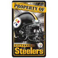 Pittsburgh Steelers NFL Property Of Plastic Sign (7.25in x 12in)