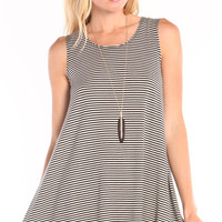 MINI STRIPED FULL SWING TANK DRESS