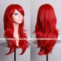 """Outop 28"""" High Quality Women's Hair Wig New Fashion Woman's Long Big Wavy Hair Heat Resistant Wig for Cosplay Party Costume ( Red)"""