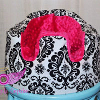 Pink and Damask Bumbo Seat Cover