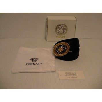 Versace belt Genuine leather Medusa head size 105 cm made in Italy new