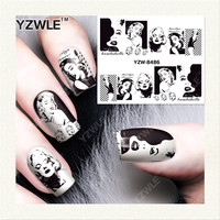 YZWLE 1 Sheet DIY Decals Nails Art Water Transfer Printing Stickers Accessories For Manicure Salon YZW-8486