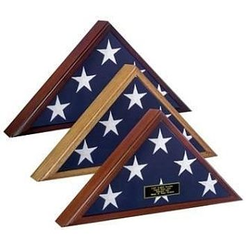 Flag Display Case 5x8 flag, Capitol Hill Flag Case Available in Heirloom Walnut, Cherry or Oak Finish