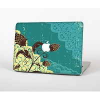 """The Yellow Lace and Flower on Teal Skin for the Apple MacBook Air 13"""""""