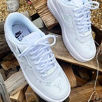 LV NIKE Air force one Fashion casual shoes-2