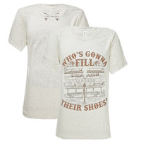Southern Couture Lightheart Fill Their Shoes Front Print Triblend T-Shirt