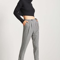 Ribbed Turtleneck Cropped Sweater