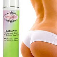 Svelte PRO Supercharged Organic Anti-Cellulite Treatment with L'Carnitine, CoQ10 and 25 Fat Fighting
