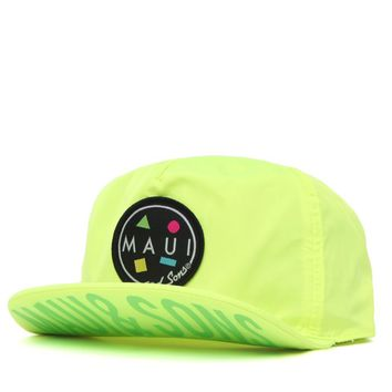 Maui & Sons Surf It Out Flip Up Hat - Mens Backpack - Yellow - One