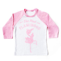 THE PINK FLAMINGOS RAGLAN