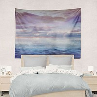 Ocean Wall Tapestry Blue and Purple Yoga Meditation Hippie Wall Hanging