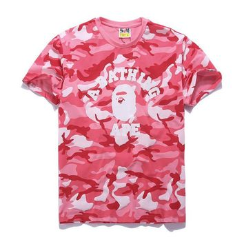 Cotton Summer Bape Print Short Sleeve T-shirts [10262482963]