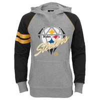 Pittsburgh Steelers Diamond Etched Hoodie - Girls 7-16, Size: